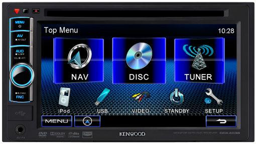 kenwood ddx4038 6 1 wide vga double din monitor with dvd. Black Bedroom Furniture Sets. Home Design Ideas
