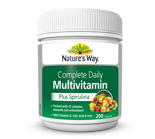 nature s way daily multivitamin plus spirulina reviews