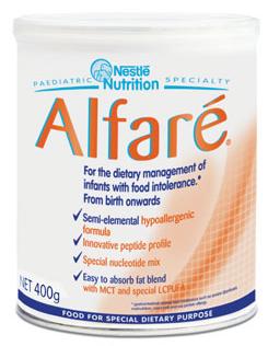 Специализированное питание Nestle Alfare с рождения