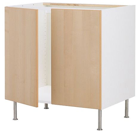 Ikea Faktum Base Cabinet for Sink + 2 Doors Kitchen Furniture