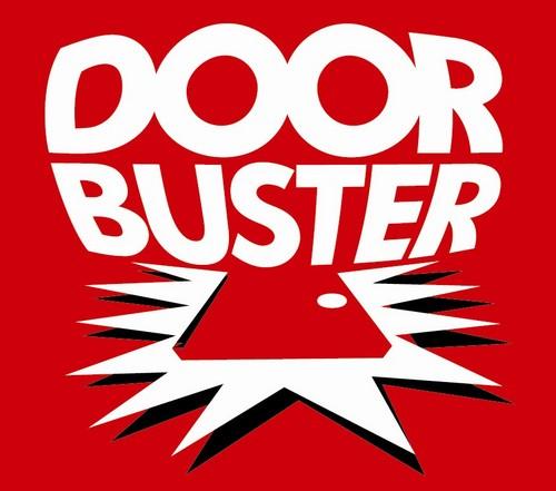 Door busters grouponu0027s 12 days of doorbusters for 12 gauge door buster