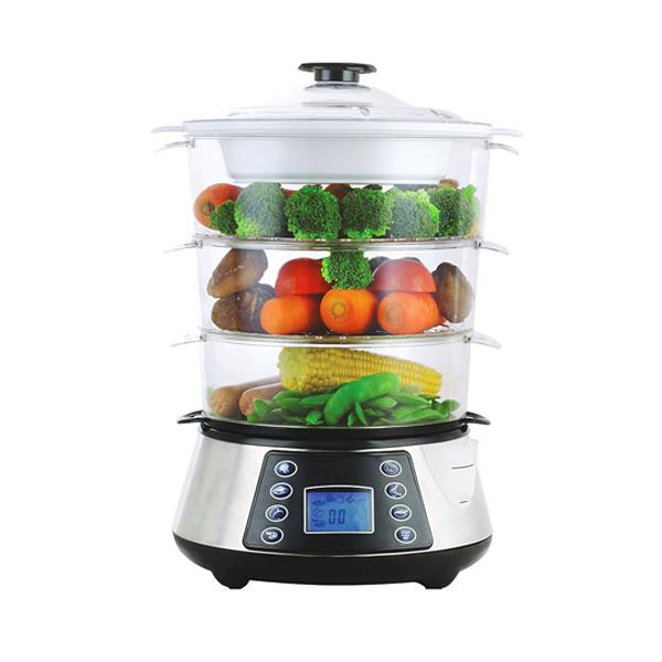 3 Tier Electric Steamer ~ Eurolab digital tier reviews productreview