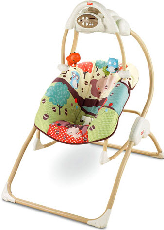 Fisher price 2 in 1 swing and rocker reviews for Chaise 4 en 1 fisher price