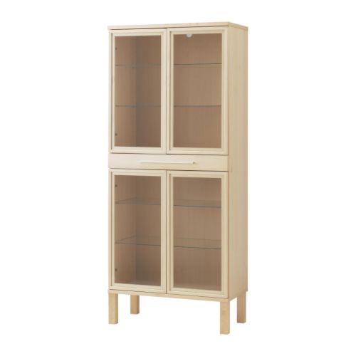 Ikea Bjursta Glass-door Cabinet Living Storage Reviews Australia www.
