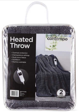 Contempo Heated Throw Reviews ProductReviewau Best Electric Throw Blanket Target
