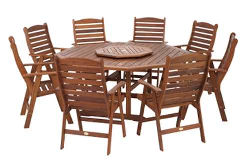 Barbeques Galore Bellair 9 Piece Dining Setting with High Back Chairs  BELOCT9PH Reviews - ProductReview.com.au - Barbeques Galore Bellair 9 Piece Dining Setting With High Back