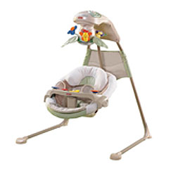 Fisher Price Nature S Touch Baby Papasan Cradle Swing