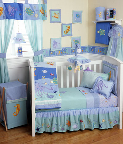 Ocean Themed Baby Crib Bedding