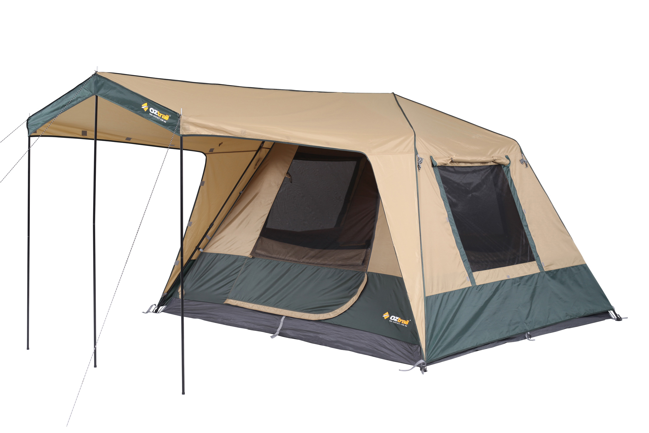 Cap fly tents on the other