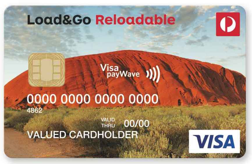 australia post loadgo reloadable visa prepaid reviews productreviewcomau - Load Prepaid Card Online