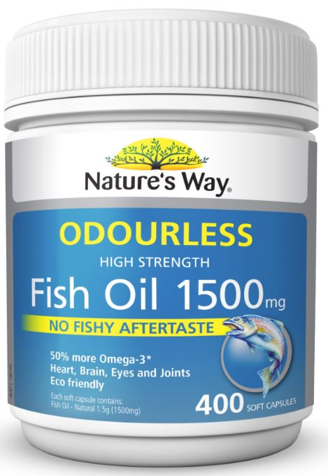 Nature 39 s way fish oil odourless reviews for Nature s bounty fish oil review