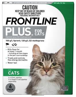 Cat lick frontline