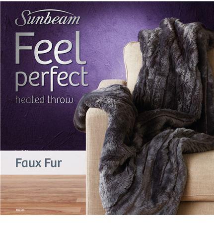 Sunbeam Feel Perfect Faux Fur Heated Throw Tr6100 Reviews