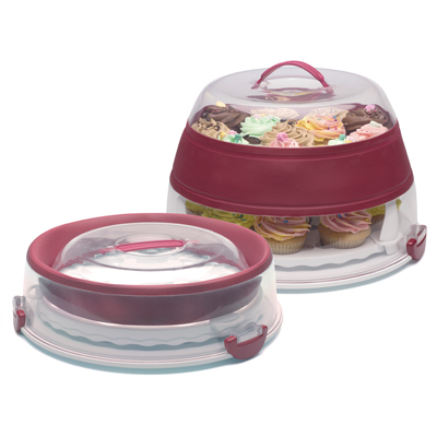 Collapsible Cake Cupcake Carrier