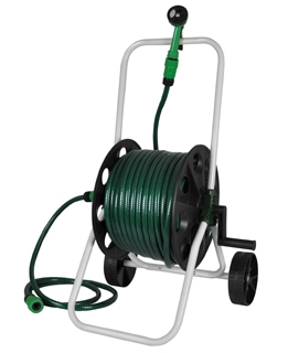 hose reel cart soldsmart pro 50m garden hose reel cart trolley and gun 10858
