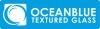 Ocean Blue Textured Glass