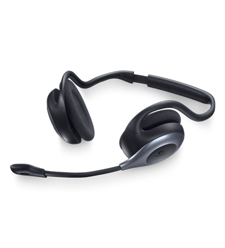 Logitech wireless headset h760 with behind-the-head design the.